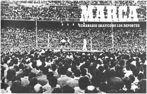 La portada de MARCA refleja un Chamartín lleno para asistir a la velada pugilística.