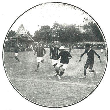 Detalle de un partido de la Copa Canaletas (Stadium nº 8). Biblioteca de l'Esport. Consell Català de l'Esport.
