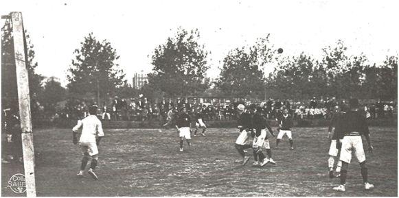 F.C. España-F.C. Andresense. Área del España (Stadium nº 11). Biblioteca de l'Esport. Consell Català de l'Esport.