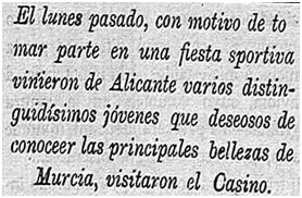 Nueva Murcia 3 de abril de 1910