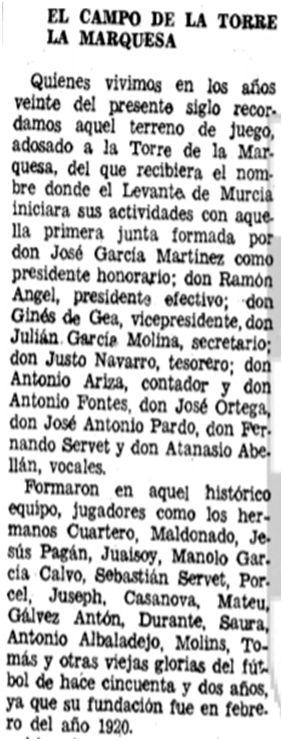 Hoja del Lunes 4 de diciembre de 1972