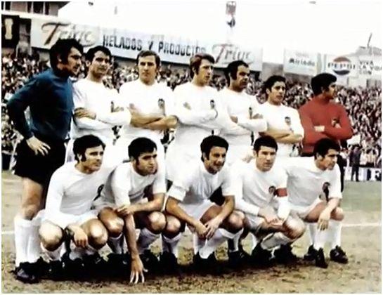 Formación 1970-71: De Pie: Abelardo, Vidagany, Aníbal, Sol, Antón, Claramunt, Cota. Agachados: Sergio, Forment, Pellicer, Paquito, Claramunt II.