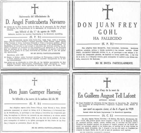 La Vanguardia, 31 de julio de 1930, p. 1.