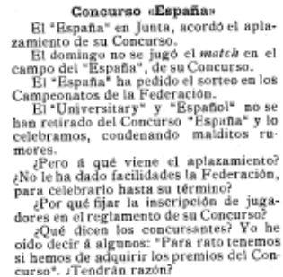 El Mundo Deportivo, 25/11/1909