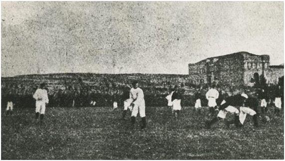 El primer clásico de la historia entre el Madrid y el Barcelona (archivo ABC)