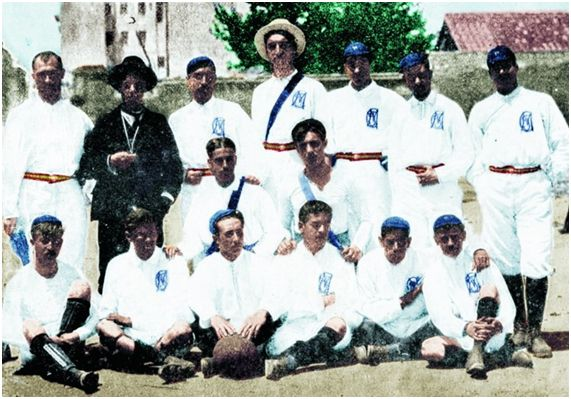 Plantilla del año 1902 del Madrid Foot-ball Club (diario AS)