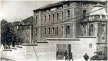 Fachada de la cárcel de Larrinaga. Fuente: Fundación Sabino Arana-Archivo del Nacionalismo Vasco.