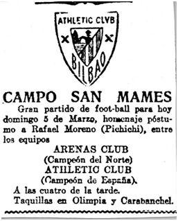 El Noticiero Bilbaíno, 05-03-1922.