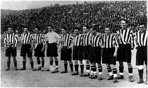 El equipo del Athletic que batió al Europa por 1-0 el día 13 de 9ee1e1c99fb5c