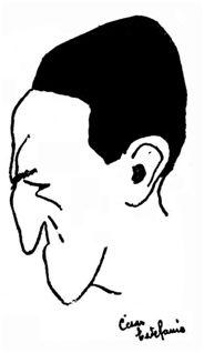 Germán Echevarría. Caricatura de César Estefanía. La Gaceta del Norte, 04-04-1924.