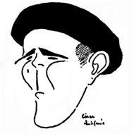 Manuel López Llamosas, 'Travieso'. Caricatura de César Estefanía. La Gaceta del Norte, 04-04-1924.