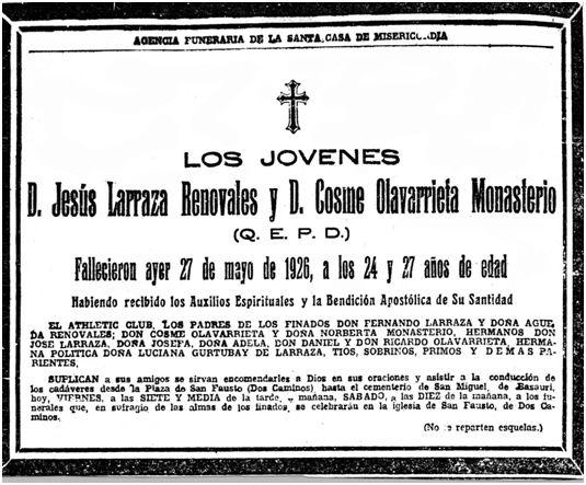 El Nervión, 28-05-1926.