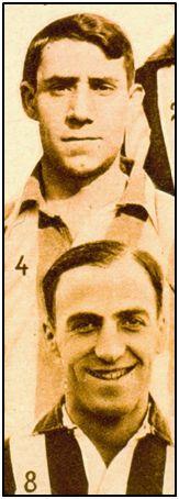Castaños (arriba) y Suárez (abajo), juntos en el Athletic Club de 1928. El primero preso en dos penales luego de que lo capturasen cuando proyectaba salir hacia el exilio. Al segundo lo asesinaron en Alicante, donde ejercía como entrenador del Hércules.