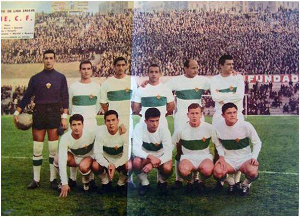 Formación 1964-65: De pie: Pazos, Chancho, Iborra, Quirant, Ramos, Forneris. Agachados: Oviedo, Vavá, Lezcano, Marcial, Romero.