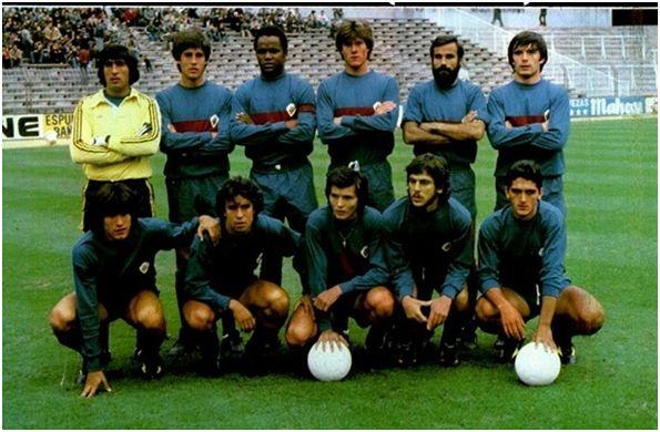 Formación 1979-80: De pie: Vidal, Castroverde, Gilberto, Bonet, Valle, Nando. Agachados: Trobbiani, Delgado, Asencio, Rivas, Quesada.