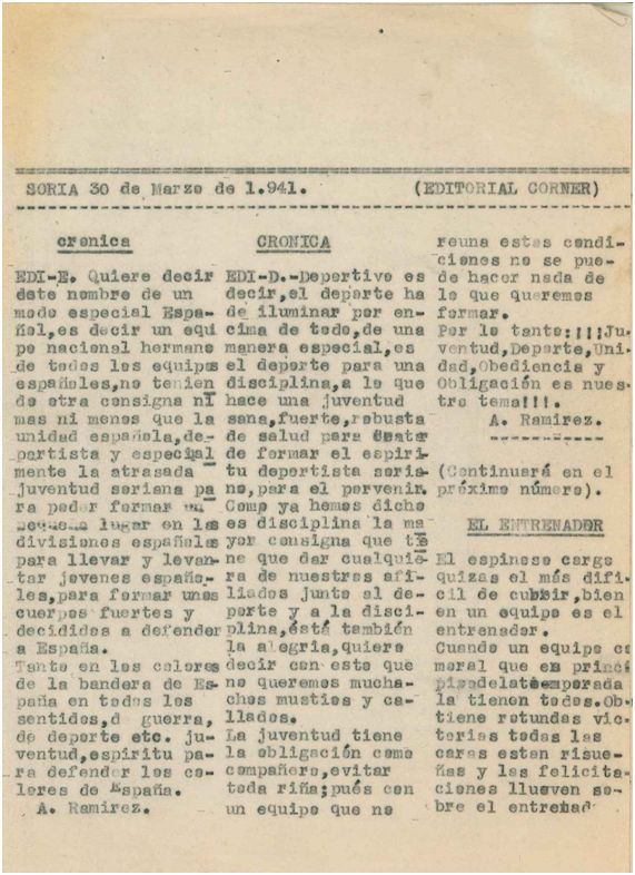 Primera publicación conservada de Félix Martialay