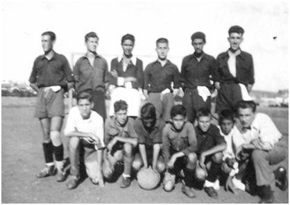 Félix Martialay en el equipo de Soria de 1944.