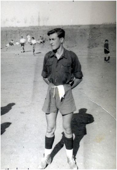 Félix Martialay vistiendo la camiseta del equipo de Soria.