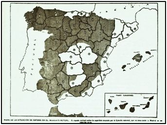"""Imaginaria zona """"nacional"""" para """"El Norte de Castilla"""", el 15 de agosto de 1936…"""