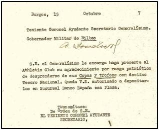 Documento 2º. El Ayudante de Secretaría en Burgos autoriza la recepción en depósito.