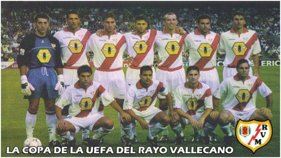Formación: Arriba: Etxeberría, Hernández, Bolo, Korino, Roy, Quevedo, Arteaga.                    Agachados: Azkoitia, Míchel, Graff, Alcázar.