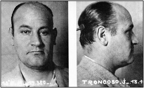 Julián Troncoso en la ficha policial francesa, como responsable del comando que intentase asaltar el submarino republicano.