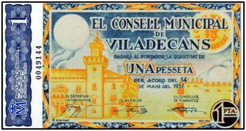 """Muchos ayuntamientos republicanos emitieron """"moneda"""" durante la contienda. Tras el triunfo franquista, ni estos billetes ni los legales hasta 1936, tuvieron otro valor que el otorgado por algún coleccionista."""