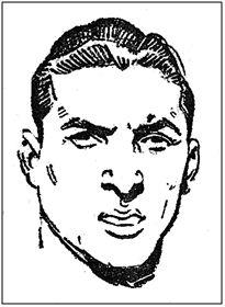Manuel Pazos en un cromo de la temporada 1953-54.