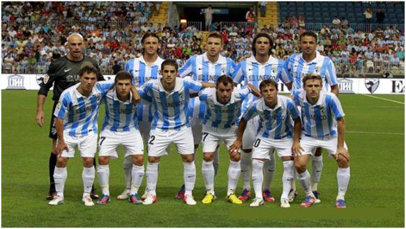 Formación 2012-13. Arriba: Willy, Demichelis, Camacho, Sergio Sánchez, Weligton. Abajo: Seba Fernández, Portillo, Isco, Duda, Buonanotte, Monreal.