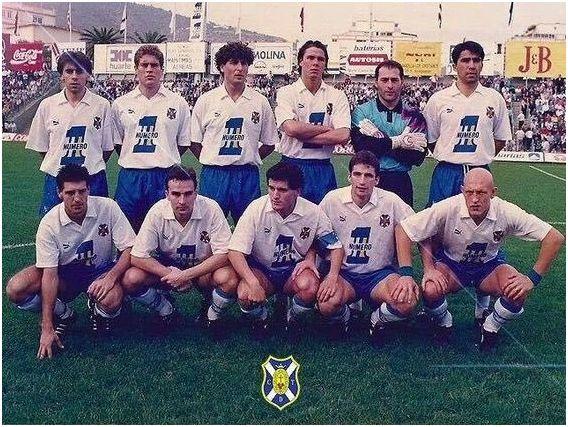 Formación 1991-92: Arriba: Felipe, Llorente, Hierro, Redondo, Manolo, Toni. Agachados: Chano, Torrecilla, Toño, Pizzi, Dertycia.