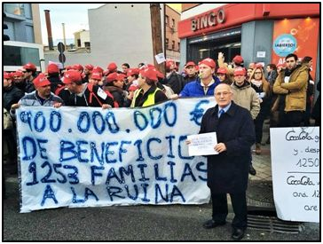 Felines, líder en Vallecas y muchos años después con arrestos para sumarse en apoyo de causas solidarias o sociales. En este caso apoyando a trabajadores de la multinacional Coca-Cola.