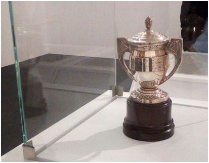 Copa de Subcampeón de España año 1939, obtenida por el Racing Club de Ferrol ante el Sevilla F.C. Final jugada el 25-06-1939 en el estadio de Montjuich de Barcelona.