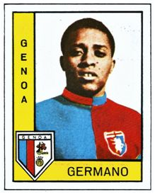 """Germano en un cromo de """"Panini"""", impreso a finales del año 1962."""