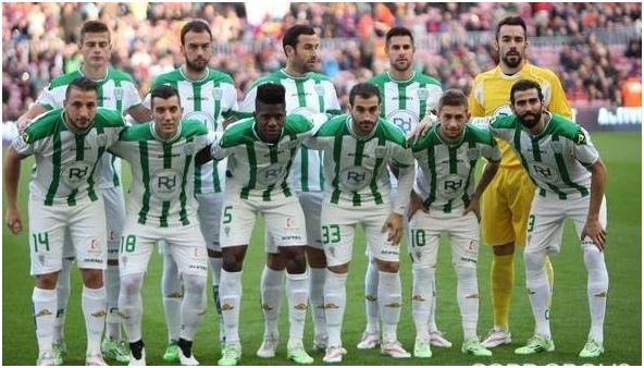 Formación 2014-15. Arriba: Pantic, Deivid, Íñigo López, Luso, Juan Carlos.  Agachados: Ghilas, Borja García, Ekeng, Campabadal, Fede Cartabia, Cresp.