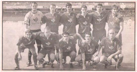 Formación 2004-05. Arriba: Saja, Berruet, Anderson Costa, Marc Bertran, Pierini, López Ramos. Agachados: Leo Jiménez, Fredrik, Ruano, Txiki, Cristian Álvarez.