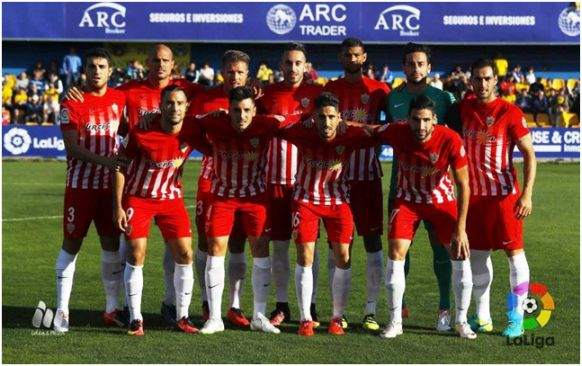 Formación 2016-17: Arriba: Fran Vélez, Nano, Morcillo, Trujillo, Joaquín, Casto, Iago Díaz. Agachados: Quique, Ximo, Fidel, Puertas.